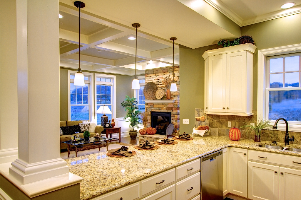 Interior photos of the cottage and village towne model for House kitchen model