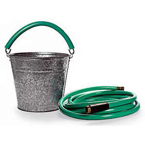bucket and hose
